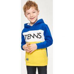 Bluza z kapturem - Niebieski. Białe bluzy chłopięce rozpinane marki Reserved, l, z dzianiny. Za 139,99 zł.