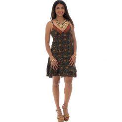 Odzież damska: Sukienka w kolorze oliwkowo-pomarańczowym