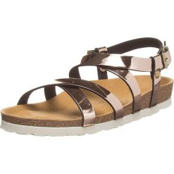 Buty damskie: Sandały w kolorze różowozłotym