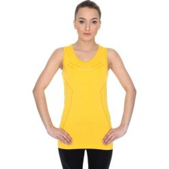 Bluzki sportowe damskie: Brubeck Koszulka damska Athletic bez rękawów żółta r.XL (TA10200)