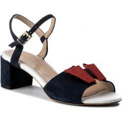 Rzymianki damskie: Sandały BALDOWSKI – W00013-8611-002 Zamsz Granat/Czerwony