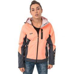Odzież sportowa damska: ELBRUS Kurtka damska MILEY WO'S FLUO PEACH/MIDNIGHT GREY/BLACK r. S