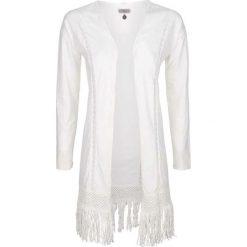 Kardigany damskie: Sweter rozpinany w kolorze białym