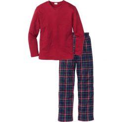 Piżama bonprix czerwony w kratę. Czerwone piżamy męskie bonprix, l. Za 74,99 zł.