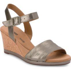 Rzymianki damskie: Sandały CLARKS – Lafley Aletha 261334764 Pewter Metallic