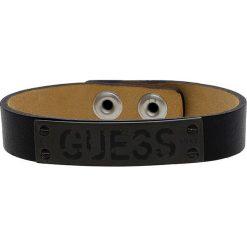 Bransoletki męskie: Skórzana bransoletka w kolorze czarnym
