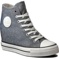 Sneakersy BIG STAR - W274673 Violet. Szare sneakersy damskie BIG STAR, z gumy. W wyprzedaży za 99,00 zł.