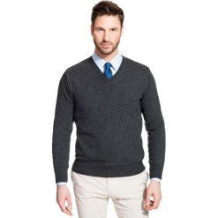 Sweter FABRIZIO SWSR000109. Szare swetry klasyczne męskie Giacomo Conti, m, z materiału. Za 229,00 zł.