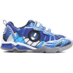 Niebieskie Buty Sportowe Transform Yourself. Niebieskie buciki niemowlęce chłopięce Born2be, ze skóry, z okrągłym noskiem, na obcasie, na rzepy. Za 59,99 zł.