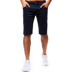 Spodenki i szorty męskie: Spodenki męskie jeansowe granatowe (sx0665)