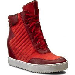 Sneakersy SIMEN - 0363 Sovage Bordo/S1924/W.Moro 5. Czerwone sneakersy damskie Simen, z nubiku. W wyprzedaży za 229,00 zł.