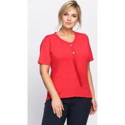 T-shirty damskie: Czerwony T-shirt Zing Up