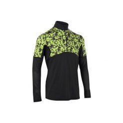 BLUZA THERMIC 900 SZARO-ŻÓŁTA. Czarne t-shirty męskie ARTENGO, na zimę, l, z długim rękawem, długie. Za 59,99 zł.