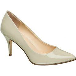 Szpilki damskie Graceland kremowe. Białe szpilki Graceland, z lakierowanej skóry. Za 79,90 zł.
