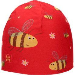 Dwuwarstwowa czapka Micro Double kid bee. Czerwone czapeczki niemowlęce marki LUM. Za 53,54 zł.