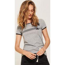 T-shirty damskie: T-shirt z nadrukiem - Szary