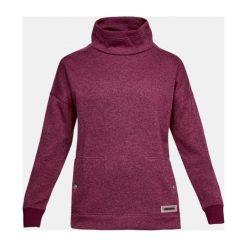 Bluzy sportowe damskie: Under Armour Bluza damska Sweater Fleece Funnel Neck bordowa r. M (1302202-025)