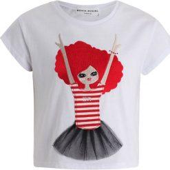 Sonia Rykiel AMEL  Tshirt z nadrukiem blanc. Białe t-shirty chłopięce Sonia Rykiel, z nadrukiem, z bawełny. Za 209,00 zł.