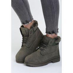 Khaki Traperki With Control. Brązowe buty zimowe damskie marki Born2be, na płaskiej podeszwie. Za 89,99 zł.