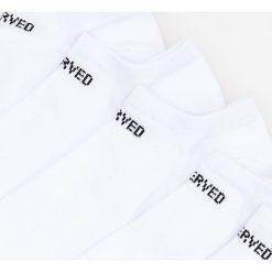 Kapcie męskie: 5 pack białych skarpetek Biały