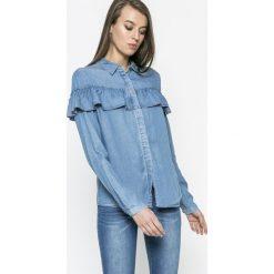 Vila - Koszula Jazzy. Szare koszule jeansowe damskie Vila, m, casualowe, z klasycznym kołnierzykiem, z długim rękawem. W wyprzedaży za 99,90 zł.