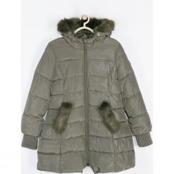 Płaszcz. Zielone płaszcze dziewczęce FAVORITE, z poliesteru, długie. Za 229,90 zł.