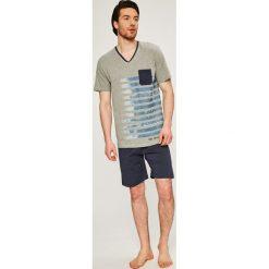 Tom Tailor Denim - Piżama. Szare piżamy męskie TOM TAILOR DENIM, l, z nadrukiem, z bawełny. W wyprzedaży za 99,90 zł.