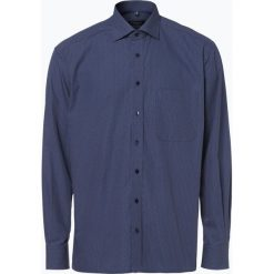 Koszule męskie na spinki: Eterna Comfort Fit - Koszula męska łatwa w prasowaniu, niebieski