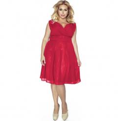 Czerwona Sukienka z Kopertowym Dekoltem PLUS SIZE. Brązowe sukienki na komunię marki Mohito, l, z kopertowym dekoltem, kopertowe. Za 209,90 zł.