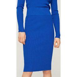 Spódniczki: Ołówkowa spódnica – Niebieski
