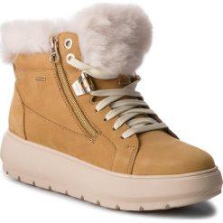 Sneakersy GEOX - D Kaula B Abx D D84AWD 00032 C5046 Biscuit. Żółte sneakersy damskie Geox, z materiału. Za 629,00 zł.