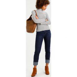 Boyfriendy damskie: Karen Millen BIG TURN UP JEANS Jeansy Straight Leg dark blue