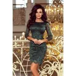Skyler Sukienka koronkowa z ozdobnymi wykończeniami - ZIELONA jasna. Niebieskie sukienki koronkowe marki numoco, na imprezę, s, w kwiaty, sportowe, sportowe. Za 169,99 zł.