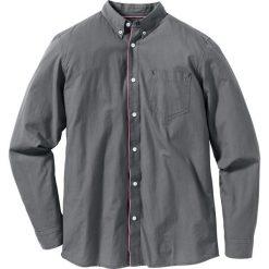 Koszula z długim rękawem Regular Fit bonprix dymny szary. Białe koszule męskie na spinki marki bonprix, z klasycznym kołnierzykiem, z długim rękawem. Za 37,99 zł.