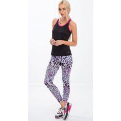 Fioletowe legginsy sportowe w panterkę H006. Fioletowe legginsy we wzory Fasardi, l. Za 59,00 zł.