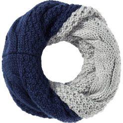 Dwustronny szal koło, dzianina bonprix niebiesko-szary. Szare szaliki damskie bonprix, z dzianiny. Za 32,99 zł.
