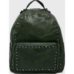 Answear - Plecak. Szare plecaki damskie ANSWEAR, w paski, ze skóry ekologicznej. W wyprzedaży za 69,90 zł.