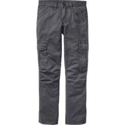 Spodnie bojówki Loose Fit Straight bonprix antracytowy. Szare bojówki męskie marki bonprix. Za 149,99 zł.