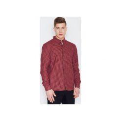 Koszula V010 Czarno-Czerwony. Czarne koszule męskie na spinki VISENT, m. Za 99,00 zł.