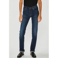 Levi's - Jeansy 712. Brązowe jeansy damskie rurki marki Levi's®, z aplikacjami, z bawełny. Za 399,90 zł.