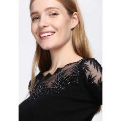 Swetry klasyczne damskie: Czarny Sweter Do Not Wait