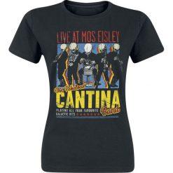 Star Wars Cantina Band On Tour Koszulka damska czarny. Czarne bluzki z odkrytymi ramionami marki Born2be, s, z motywem z bajki, z dekoltem na plecach, z długim rękawem. Za 79,90 zł.