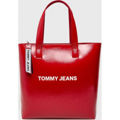 Tommy Jeans - Torebka. Czerwone torebki klasyczne damskie Tommy Jeans, z jeansu, duże. Za 579,90 zł.