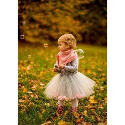 Sukienka z tiulem i pomponami Fluffy. Brązowe sukienki dziewczęce marki Pakamera, z tiulu. Za 199,00 zł.