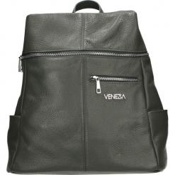Plecak - 36-015-O D GR. Szare plecaki damskie Venezia, ze skóry. Za 349,00 zł.