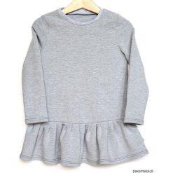 Sukienki dziewczęce dzianinowe: Sukienka szara