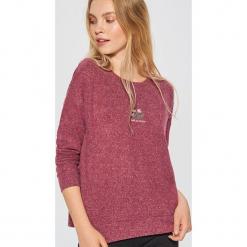 Lekki sweter - Bordowy. Czerwone swetry klasyczne damskie marki Cropp, l. Za 49,99 zł.