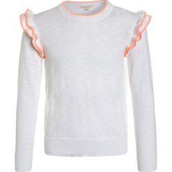 Swetry chłopięce: J.CREW ADELINE RUFFLE SLEEVE POPOVER  Sweter white