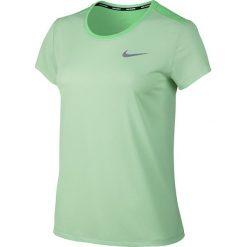 Koszulka do biegania damska NIKE BREATHE RAPID TOP SHORT SLEEVE / 840173-300 - NIKE BREATHE RAPID TOP SHORT SLEEVE. Szare bluzki z odkrytymi ramionami marki Nike, z materiału. Za 75,00 zł.