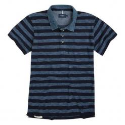 Koszulka polo w kolorze niebieskim ze wzorem. Czarne koszulki polo marki Pepe Jeans, m, w paski, z krótkim rękawem. W wyprzedaży za 149,95 zł.